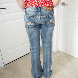 Seven7 Flared Distressed Jeans Size 27